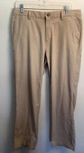 Men's PUMA GOLF Way 1 Beige Flat Front Pants Size 33 x 34 * See Photos