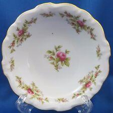"""Johann Haviland Moss Rose Berry Bowl White Red Roses Gold Trim 5"""""""