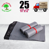 25 10 x12 (250x300 mm) STRONG GREY MAILING BAGS POSTAGE POSTAL QUALITY SELF SEAL