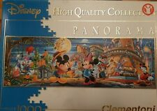 """CLEMENTONI DISNEY """"MICKEY MOUSE"""" PANORAMA 1000 PIECE PUZZLE COMPLETE"""