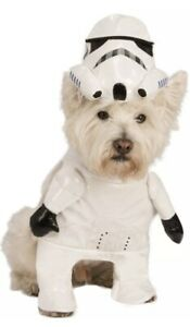 Brand New Star Wars Marching Storm Trooper Pet Dog Costume Halloween Size M