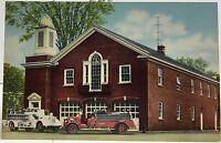 Homer NY ~ Fire Station & Fire Trucks ~ Cortland County