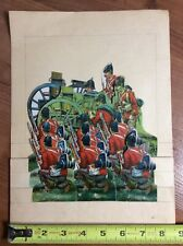 British Soldiers Antique Die Cut Paper Doll Sheet Hussars Raphael Tuck Canon No2