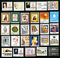 Mexico Stamps Lot of 50 Different NH Recent Mexico Stamps