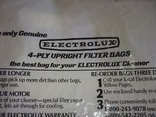 4 Bags Genuine Multi Filter Brand Electrolux Upright Style Bags 4 Ply