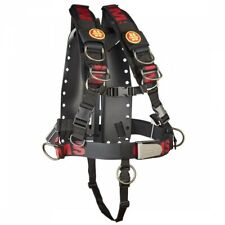 OMS Aluminum Backplate w/Comfort Harness XL AL System II Scuba Diving X-Large