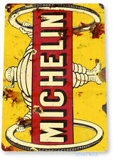 Tin Sign Michelin Tires Wheels Tubes Parts Service Auto Shop Garage A938