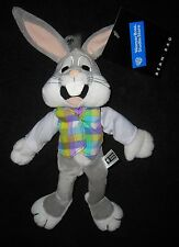 """WARNER BROTHERS STUDIO STORE BUGS BUNNY EASTER VEST 10"""" PLUSH BEANIE"""