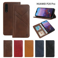 For Huawei P20 series Phone Case Luxury Leather Magnetic Flip Wallet Stand Cover