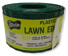 Patrician Green plastic Lawn Edging, Heavy Duty 40'' x 4''