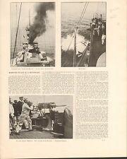Manoeuvres Navales Méditerranée Mitrailleuse Maxim FRANCE GRAVURE OLD PRINT 1901