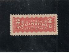 CANADA # F1b VF-MH 2cts REGISTRATION CAT VALUE $500