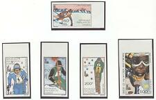 Congo Olympische Spiele Olympic Games 1980 Imperforated set MNH