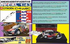 ANEXO DECAL 1/43 CITROEN C4 WRC S.OGIER R.NEW ZEALAND 2010 2nd (01)