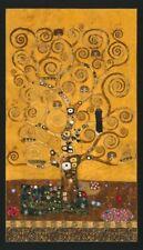 Robert Kaufman Gustav Klimt Collection SRKM 17180 133 Tree Panel  Cotton Fabric