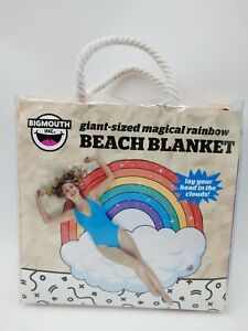 Beach Blanket Towel Giant Sized Magical Rainbow by Bigmouth 60 X 64.5 in NEW