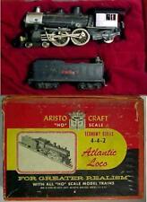 1950s HO Scale STEAM LOCOMOTIVE Model Train 4-4-2 For PARTS  ARISTO Newark 2, NJ