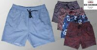 Ben Sherman Men's Woven Swimming Shorts Swim Trunks Red Blue Floral S M L BNWT