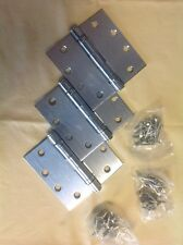 "NEW Set(3) Hager BB1279-US26D Architectural Satin Chrome Door Hinges 4.5"" X 4.5"""