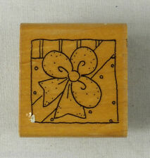 """JRL Design Rubber Stamp Small Wrapped Gift Package Box with Bow 1-1/8"""" x 1-1/4"""""""