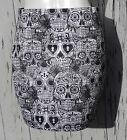 Day Of The Dead Candy Skull Skirt - Size 8 10 12 14 16 - Mini Bodycon Mexican