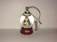 JASON Ganz Glass Snowman Snowglobe Ornament Great Stocking Stuffer or Gift
