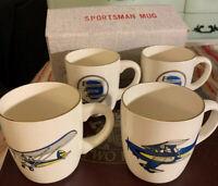 Experimental Aircraft Association~EAA~4 Vintage Mugs~With Box~Aviation~Made USA