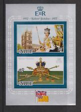 QEII 1977 Silver Jubilee MNH Stamp Miniature Sheet Niue sg MS215