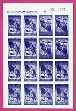 ISRAEL SHEET OF 16 REVENUE STAMPS # 1323 MNH 587