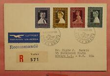 DR WHO 1955 LIECHTENSTEIN FDC RED CROSS 10TH ANNIV 145469