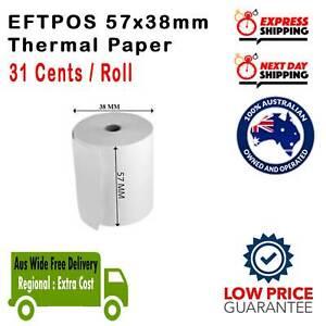 100% Best Price 20/60/120/240/360x 57x38mm Eftpos Rolls Thermal Paper Cash