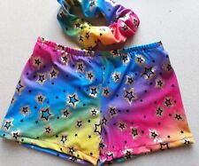 Girls 10-12 Twinkle metallic shorts hot pants shorts gymnastics MADE IN THE UK