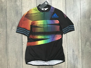 Adidas Aeroready Pride Cycling Jersey Womens Size Large Multi Color NWT $160.00