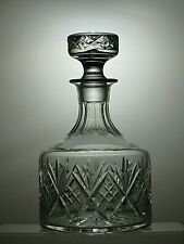 """WHITEFRIARS CRYSTAL C640 HARROW CUT ROUND DECANTER 9"""" TALL ( 22.5 CM )"""