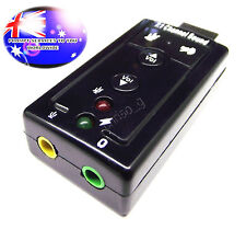 From Oz Quality 1pc Soundcard USB Male Stick Plug Audio Card 7.1ch Mini External