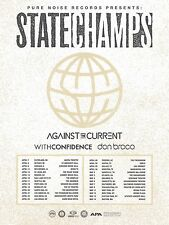 State Champs / Against The Current 2017 Usa Concert Tour Poster - Pop Punk Music