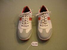 FootJoy Contour Spikeless White/Orange Golf Shoes- Sz 10M- 54303 GC085