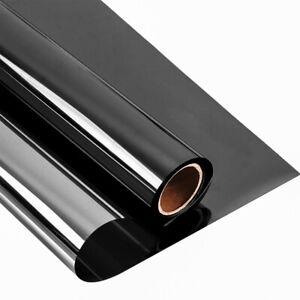 Black&Silver reflective Window Tint film Static Cling solar tint Anti-UV foils