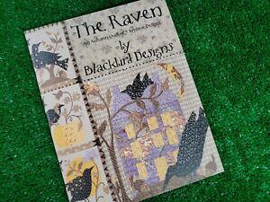 The Raven - 9 Quilt Applique Designs - Cross Stitch Pattern Blackbird Designs