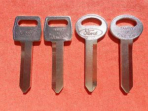 4 FORD F150 F250 F350 TRUCK ORIGINAL KEY BLANKS 1967-1991