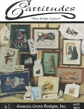Cattitudes the 5th Litter #177 Jeanette Crews Designs Cross Stitch CATS Book