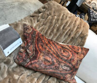 Pottery Barn Angelo Lumbar Pillow Cover Warm 16x26 Swirling Decorative New