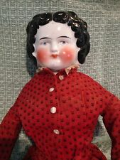 "Antique Bawo & Dotter Marked  German 24"" China Doll Original Dress & Body"