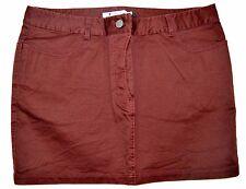 New T by Alexander Wang Women's Mini Jean Skirt Merlot Red Size 30 NWT