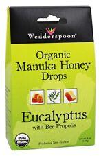 Wedderspoon Manuka Honey Drops Eucalyptus with Bee Propolis 4 oz