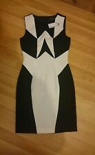 WAREHOUSE Monochrome Blocked Panel Dress Size 6 NEW WITH TAGS