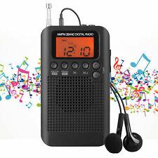 "1.3"" HRD-104 Portable AM /FM Stereo Radio Pocket 2-Band Digital LCD Display Q0S0"