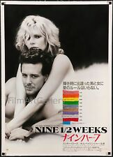 "9 1/2 WEEKS 1986 sexy 20""x29"" linen-backed poster NINE AND A HALF filmartgallery"