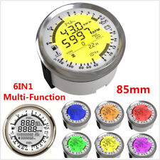 85mm Universal GPS Speedometer Tachometer Gauge Water Temp Oil Pressure Volt