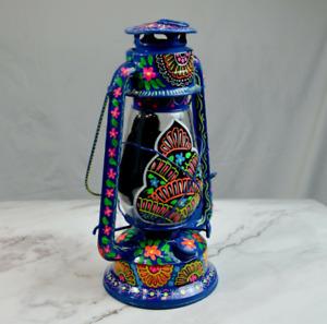 Beautiful OIL Burning Lanterns hand-painted traditional Pakistani truck Art -New